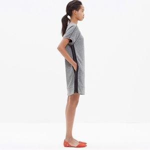 Madewell Panorama T Shirt Dress Gray Side Zip Cute